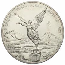 2009 .999 Argent Mexicain Libertad 5 Onzas W/PLASTIQUE Capsule - $237.36