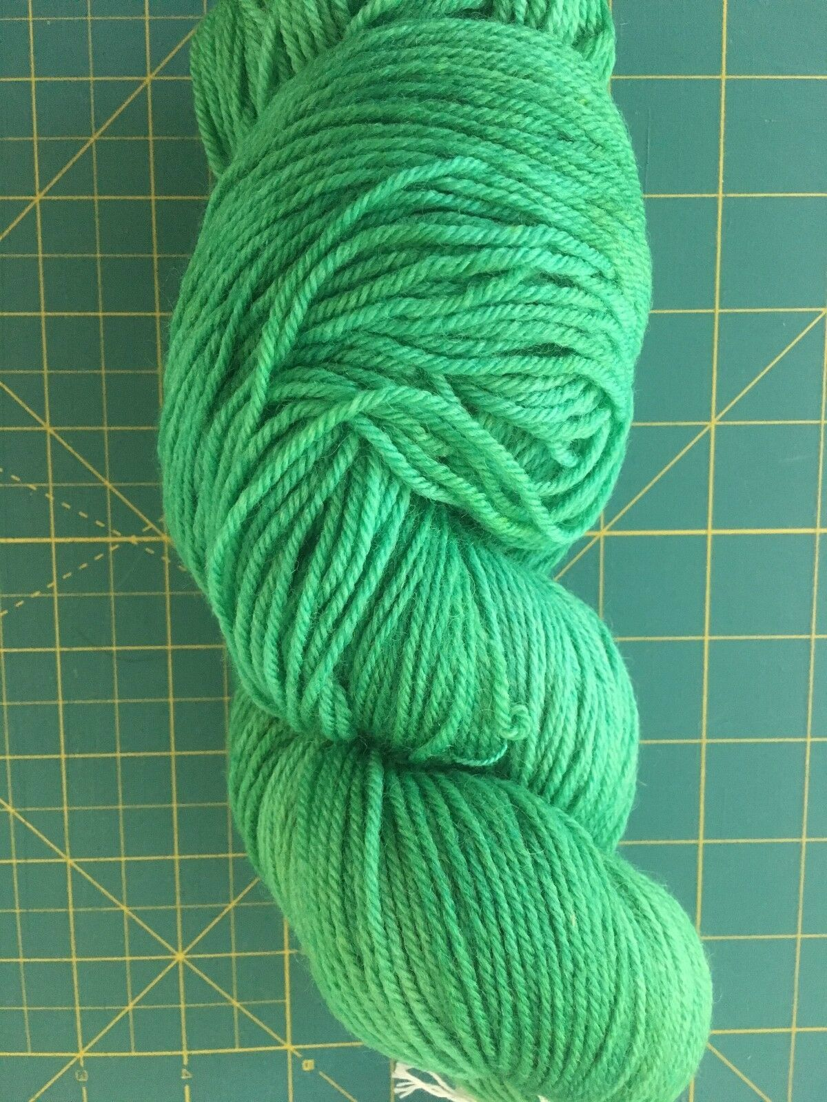Hand Dyed Sport Weight Wool yarn by Color Creations - Color Emerald - 100gr hank - $5.58