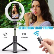 Bluetooth Selfie Stick Tripod With LED Ring Fill Light L07 For Samsung 5... - $31.68