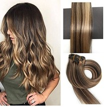 TheFashionWay 21 Colors 70 Grams - 15 18 20 22 Inch 7pieces Real Human Hair Exte