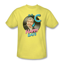 Happy Days T-shirt Mr.C retro vintage 70's TV show 100% cotton yellow tee cbs988 image 1