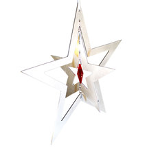 3D Aluminum and Crystal Star Ornament image 6