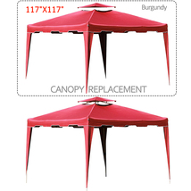 "117"" x 117"" Gazebo Replacement Canopy Top Cover Dual Tier Outdoor Garden... - $39.99"