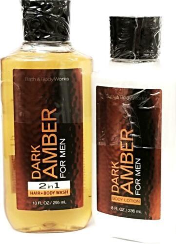 Bath & Body Works Dark Amber Men's Body lotion & 2-in-1 Hair + Body Wash
