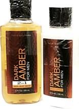 Bath & Body Works Dark Amber Men's Body lotion & 2-in-1 Hair + Body Wash - $23.75