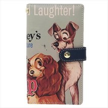 Made in Japan LADY AND THE TRAMP Smartphone notebook type cover Cowhide ... - $88.11