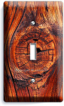 RUSTED OLD WOOD EYE RUSTIC SINGLE LIGHT SWITCH WALL PLATE KITCHEN LOG CA... - $8.99