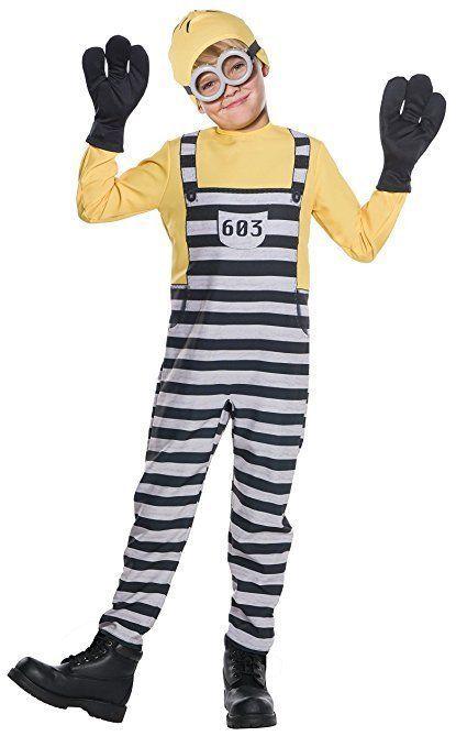 Rubies Despicable Me 3 Jail Minion Tom Gru Kevin Kids Halloween Costume 630847