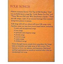 North American Folklore FOLK SONGS Book AA19-1378 image 4