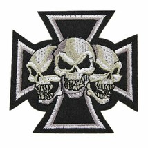 Cross Skull Punk Embroidered Sew Iron Patch Badges Bag Jeans Hat DIY App... - $8.90