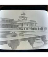 Vtg Magic Lantern Glass Slide Photo India Fatephur Sikri - $12.30