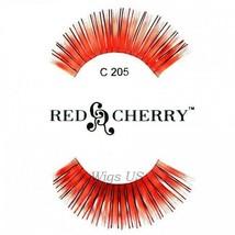 C205 Red Cherry Lashes Color Lashes Fake False Eyelashes US Seller - $3.75
