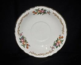Old Vintage Saucer Plate by Homer Laughlin Fruit Floral Pattern Scalloped USA - $8.90