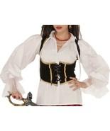 Women's Caribbean Pirate Buccaneer White Puff Sleeve Lace Cuff Costume S... - $20.20