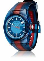 Latest Gucci Sync XXL Swiss Transparent Nylon Strap Unisex Watch YA137112 - $356.40