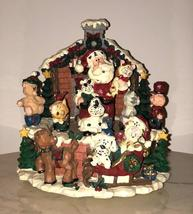 Christmas Music Box - Vintage Holiday Mantle Decor - $25.00
