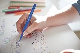 Flair Felt Tip Pen,(0.7mm)bold, colorful lines ,Black,smear-resistant ink - $19.78