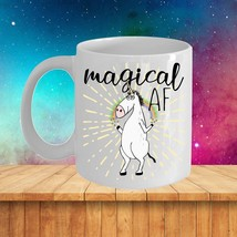 Magical AF (As Eff) Funny Unicorn Mug Rude Gift for Her Mom Coworker Cof... - $18.39+