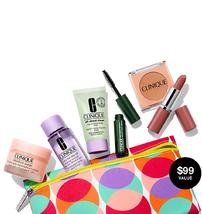 Clinique 7 PCS Travel Size Makeup Deluxe Sample Gift Set Dot Bag - NEW S... - $19.70