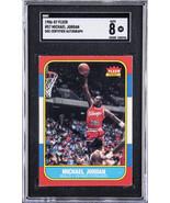 Michael Jordan Signed 1986 Fleer Bulls Card UDA SGC Auto 8 - $33,949.99