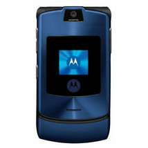 Authentic ORIGINAL Motorola V3i Blue Flip 100% UNLOCKED 2G Cell Phone WA... - $43.53