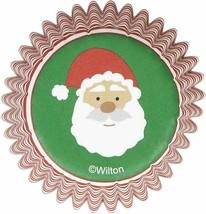 Wilton Christmas Santa 100 ct Mini Baking Cups Cupcake Liners - $3.65