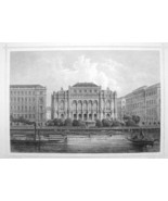 HUNGARY Budapest Redout Concert Hall - 1870s Original Engraving Print - $30.22