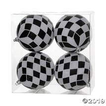 """Vickerman 4.7"""" Black-White Diamond Glitt Ball Ornament - 4/Box - $41.50"""