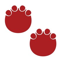 LiteMark 9 Inch Red Elephant Tracks - Pack of 12 - $27.95