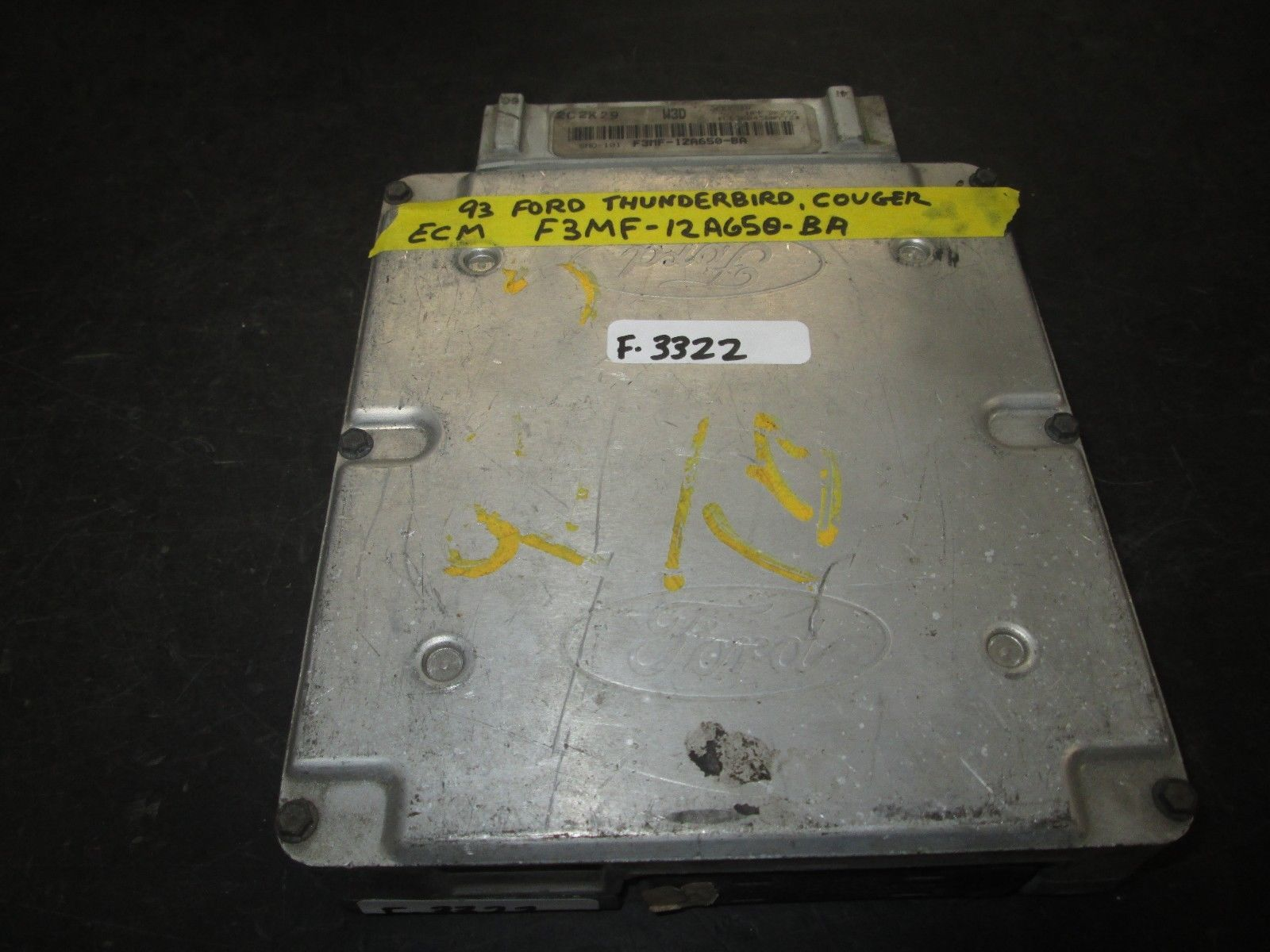 Primary image for 93 FORD THUNDERBIRD COUGER ECM #F3MF-12A650-BA