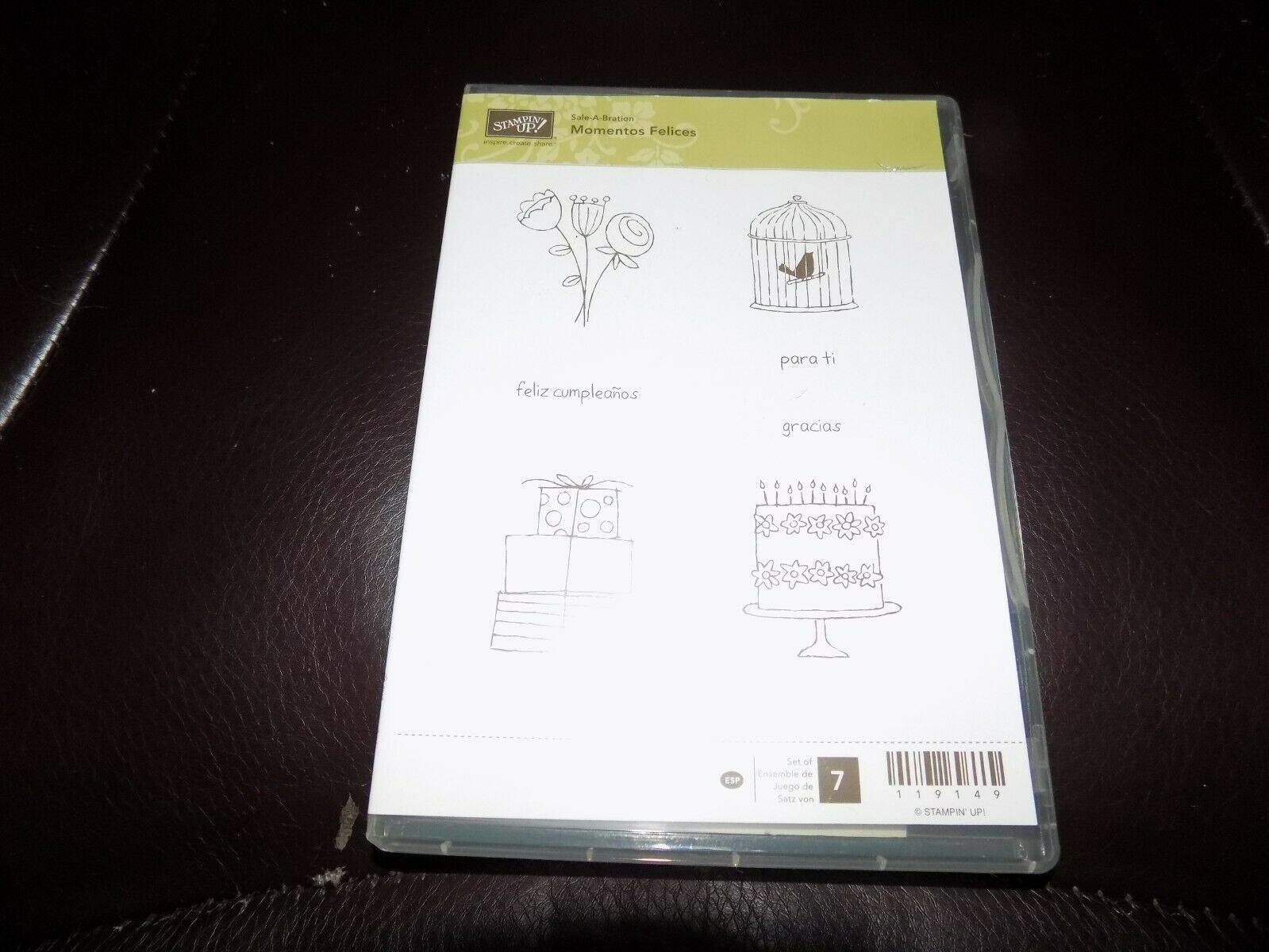 Primary image for Retired Stampin' Up! Momentos Felices Clear-Mount Stamp Set NEW