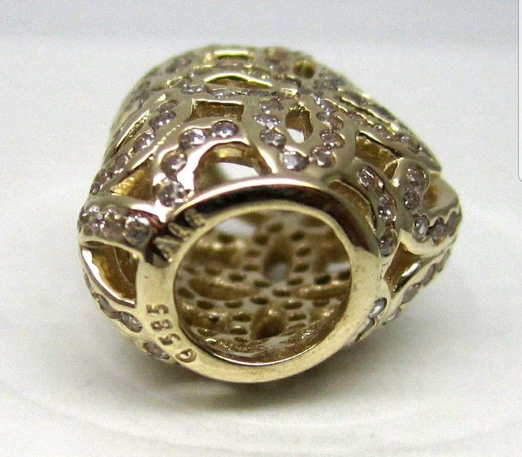 45575ae12 Authentic Pandora 750837CZ Bead/ Love CZ 14k Yellow Gold New $375