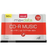 Maxell 625156 - CDR80MU50PK 80-Minute Music CD-Rs (50-ct Spindle) - $39.49
