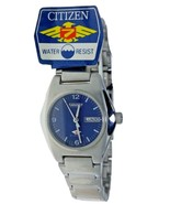 NEW Vintage Ladies 21 Jewels Automatic CITIZEN See true Back Blue Watch ... - $177.64