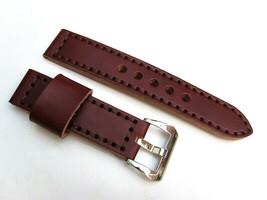 22MM Handmade Italian Calf Dark Brown Strap PRE-V Polished Buckle Fit PANERAI - $44.37