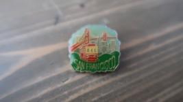 Vintage San Francisco Trolly Car Golden Gate Lapel Pin 2.5 x 2.5 cm - $15.83
