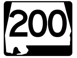 Alabama State Route 200 Sticker R4598 Highway Sign Road Sign Decal - $1.45+