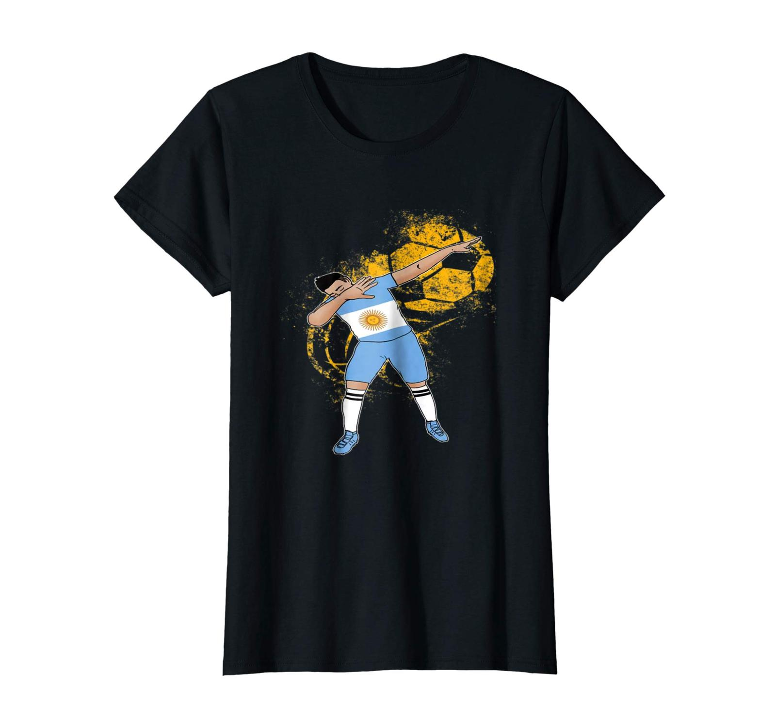 New Shirts - Dabbing Argentina Football Cup 2018 Soccer Men T Shirt Wowen