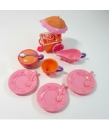 2003 My Little Pony Tea Party Plates, Cream & Sugar & Cup + Ice Cream Cart - $12.99