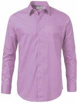 Men's Solid Long Sleeve Formal Button Up Standard Barrel Cuff Dress Shirt image 13
