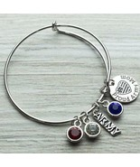 Proud Army Mom Bangle Bracelet, Army Jewelry Gift for Women - $15.00