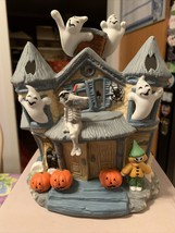 PARTYLITE Halloween Haunted Tealight  House CANDLE HOLDER Retired Rare P... - $99.99