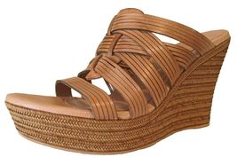 UGG Melinda Womens Leather Wedge Sandal Suntan Style #100711 size 9.5 - $58.65