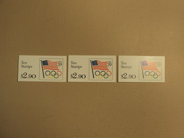 USPS Scott 2528a 29c 3 Books Flag Olympic Rings 30 Stamps 3 Panes Mint B... - $29.03