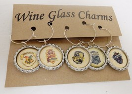Harry Potter Inspired Wine Glass Charms Custom Made Set of 5 - $28.91