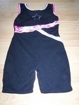 Size Medium Jacques Moret Dance Gymnastics Unitard Leotard Black Pink St... - $17.00
