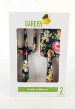 Floral Garden Kit 2 piece Set Shovel & Rake Metal Black New - £14.02 GBP
