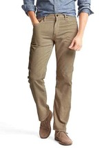 Gap Men's 1969 Straight Fit Cords Pants, Cotton/Polyester, Khaki, 30x32 NWT - $44.99