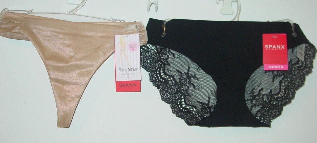 b2f09296b2b1 Spanx lot 2 black lace back bikini tan nude and 50 similar items