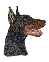 Amazing Dog Faces[Doberman Pinscher Black Dog Face] Embroidery Iron On/S... - €6,42 EUR
